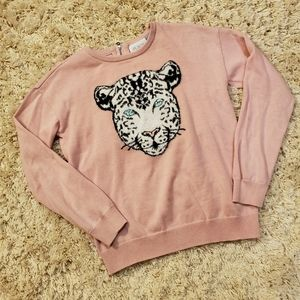 Children's Place Leopard Sweater Size L 10/12